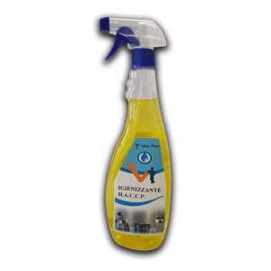 Detergente in flacone da 750 ml igienizzante H.A.C.C.P. base alcolica - Detergente H.A.C.C.P. igienizzante Detergenza - Coleschi