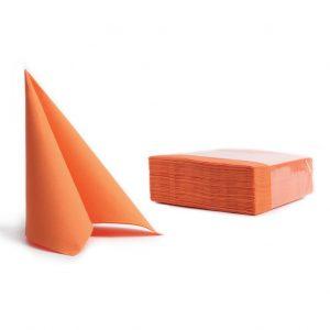 Tovaglioli soft point microincollati 38x38 arancio (313) - Tovaglioli soft point microincollati 38x38 Pasticceria - Coleschi