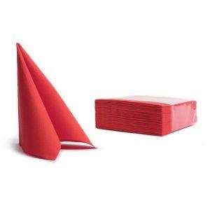 Tovaglioli soft point microincollati 38x38 rosso (303) - Tovaglioli soft point microincollati 38x38 Pasticceria - Coleschi