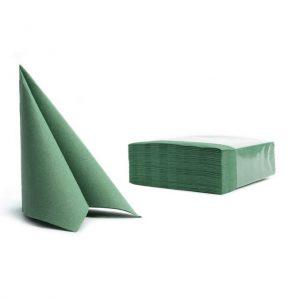 Tovaglioli soft point microincollati 38x38 verde scuro (302) - Tovaglioli soft point microincollati 38x38 Pasticceria - Coleschi