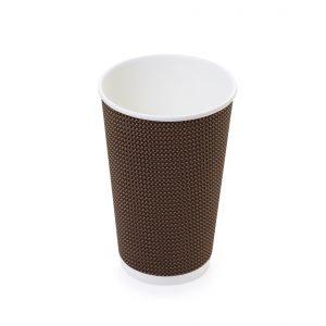 Bicchieri eco cartoncino doppio strato per bevande calde 250 ml marrone - Bicchieri eco cartoncino doppio strato per bevande calde Pizzeria e ristorazione - Coleschi