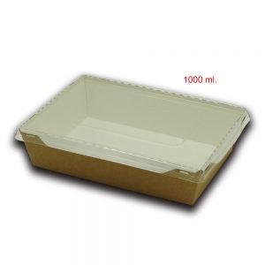 Scatola eco opsalad con coperchio di plastica trasparente 4