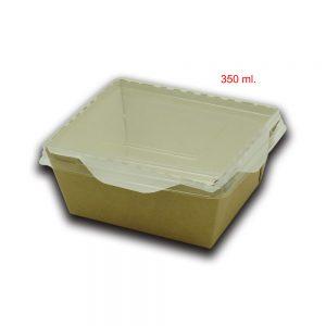 Scatola eco opsalad con coperchio di plastica trasparente 1
