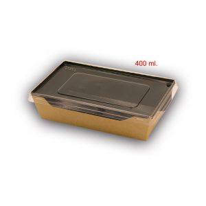 Scatola eco opsalad con coperchio di plastica trasparente 5