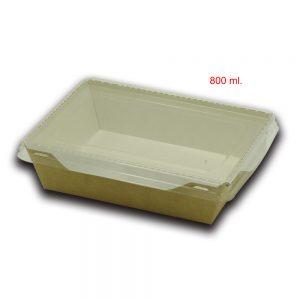 Scatola eco opsalad con coperchio di plastica trasparente 3