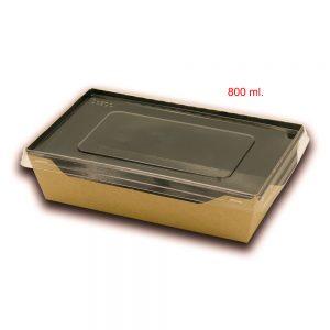 Scatola eco opsalad con coperchio di plastica trasparente 7
