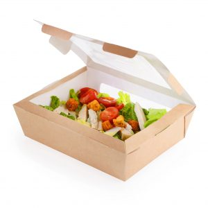 Scatola eco salad per insalata 600 150X115 mm H50 mm - Scatola eco salad per insalata Pizzeria e ristorazione - Coleschi