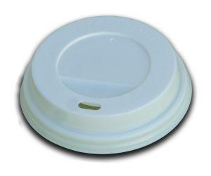 Coperchi bianchi per bicchieri in cartoncino diam 70 (7OZ) - Coperchi bianchi per bicchieri in cartoncino Pizzeria e Ristorazione - Coleschi