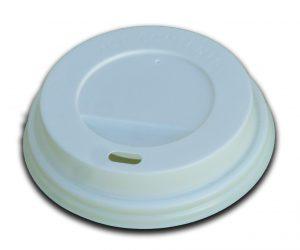 Coperchi bianchi per bicchieri in cartoncino diam 80 (8OZ/9OZ/12OZ) - Coperchi bianchi per bicchieri in cartoncino Pizzeria e Ristorazione - Coleschi