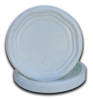 Piatti ottogonali bianchi diam 170X20 MM - Piatti ottogonali bianchi Gastronomia - Coleschi